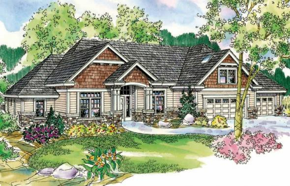 Heartington - 10-550 - Ranch Home Plans - Front Elevation