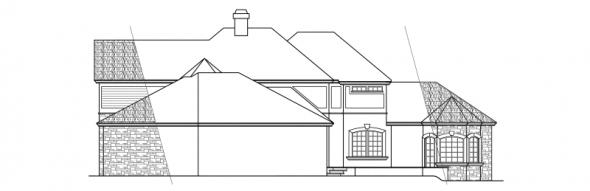 Wilshire - 10-031 - Estate Home Plans - Rear Elevation