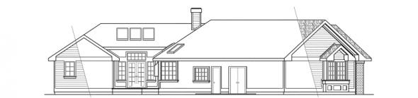 Sheridan - 10-042 - Ranch Home Plans - Left Elevation