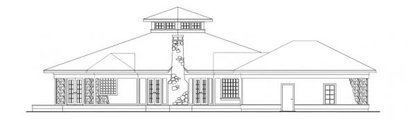 Clematis - 10-073 - Cape Cod Home Plans - Left Elevation