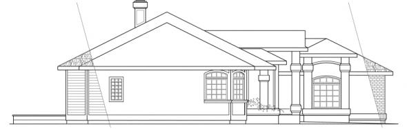 Jamison - 10-081 - Ranch Home Plans - Left Elevation