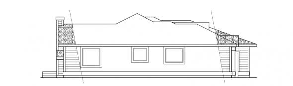 Wateridge - 10-144 - Ranch Home Plans - Left Elevation