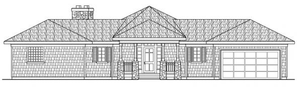 Vista - 10-154 - Hexagonal Home Plans - Front Elevation
