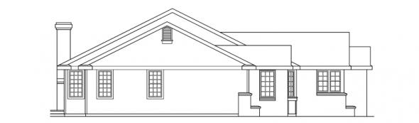 Burlington - 10-255 - Ranch Home Plans - Left Elevation