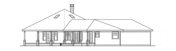 Oceanview - 10-258 - Hexagonal Home Plans - Left Elevation
