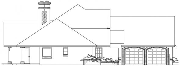 Marcellus - 10-301 - European Home Plans - Left Elevation