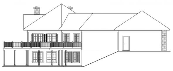 Linfield - 10-322 - Hexagonal Home Plans - Left Elevation
