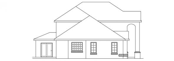 Richfield - 10-352 - Traditional Home Plans - Left Elevation