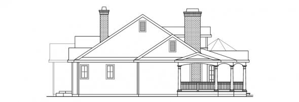 Greenbriar - 10-401 - Country Home Plans - Left Elevation