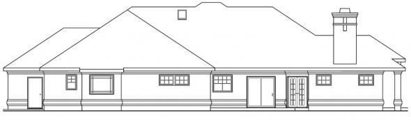 Rosewood - 10-402 - Contemporary Home Plans - Rear Elevation