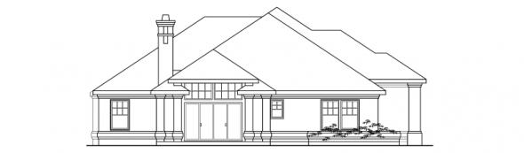 Rosewood - 10-402 - Contemporary Home Plans - Left Elevation
