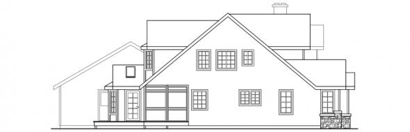 Hilyard - 10-408 - Country Home Plans - Left Elevation