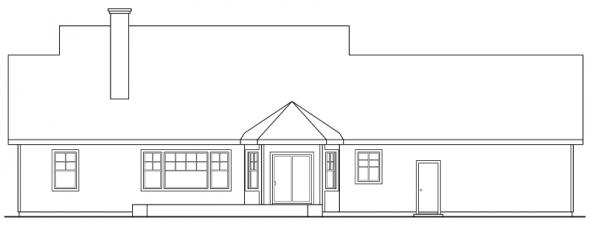 Clearheart - 10-410 - Country Home Plans - Rear Elevation