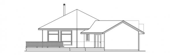 Forsythia - 10-426 - Hexagonal Home Plans - Left Elevation