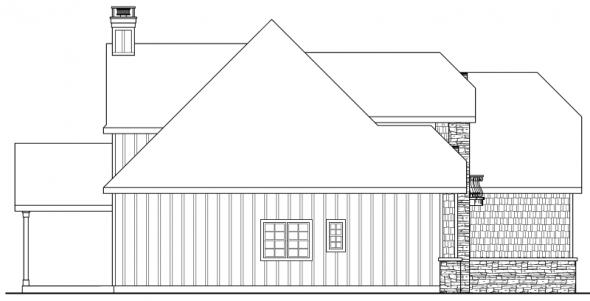 Heartison - 10-540 - Chateau Home Plans - Left Elevation