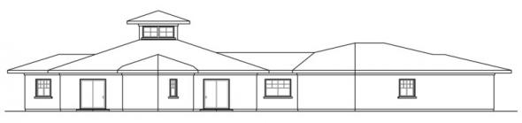 Flora Vista - 10-546 - Mediterranean Home Plans - Left Elevation