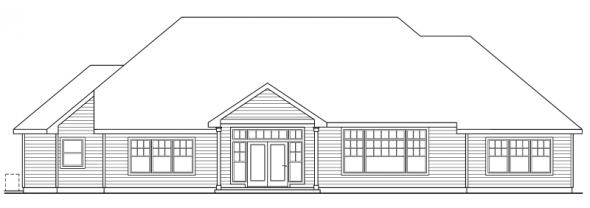 Heartington - 10-550 - Ranch Home Plans - Rear Elevation