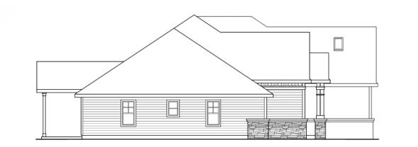 Heartington - 10-550 - Ranch Home Plans - Left Elevation