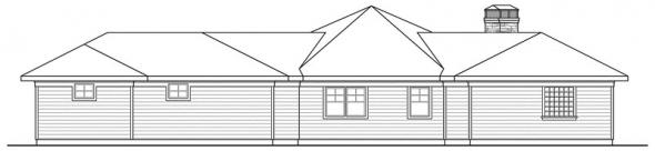 Baltimore - 10-554 - Prairie Home Plans - Rear Elevation