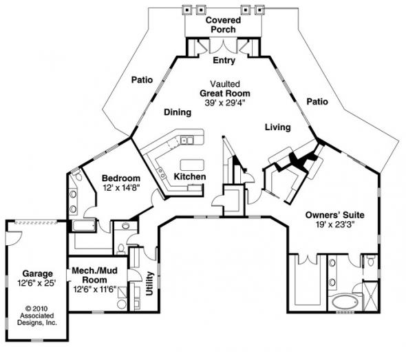 Baltimore - 10-554 - Prairie Home Plans - Floor Plan