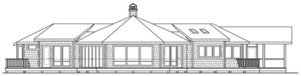 Sandpoint - 10-565 - Lodge Home Plans - Rear Elevation