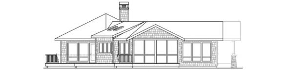 Sandpoint - 10-565 - Lodge Home Plans - Left Elevation