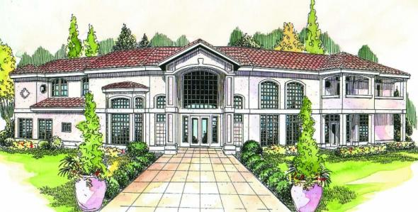 Veracruz - 11-118 - Mediterranean Home Plans - Front Elevation