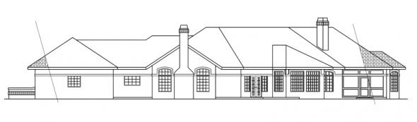 Braxton - 11-040 - Mediterranean Home Plans - Rear Elevation