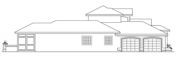 Roswell - 11-086 - Southwestern Home Plans - Left Elevation