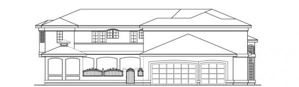 Veracruz - 11-118 - Mediterranean Home Plans - Left Elevation