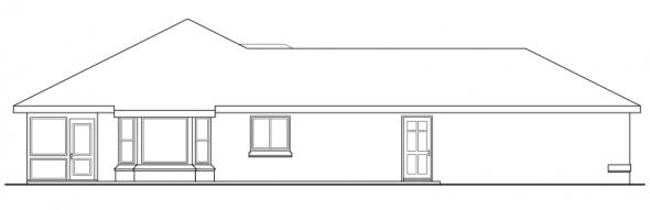 Crosbyton - 11-136 - Traditional Home Plans - Left Elevation