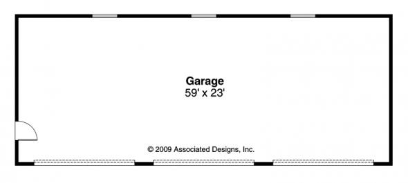 3 car Garage - 20-051 - Garage Plans - Floor Plan