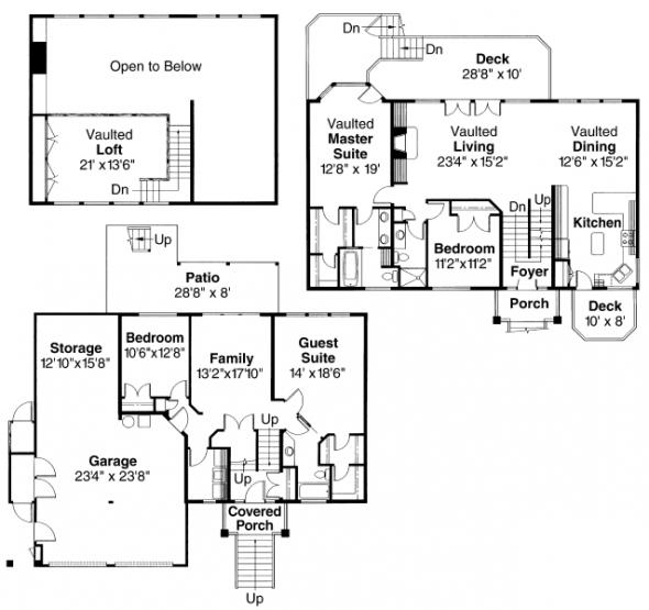 Matice - 30-144 - Contemporary Home Plan - Floor Plan
