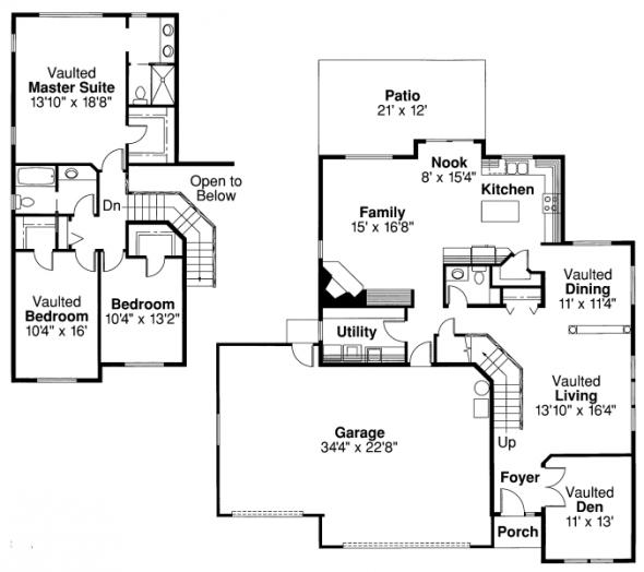 Valemont - 30-163 - Traditional Home Plan - Floor Plan