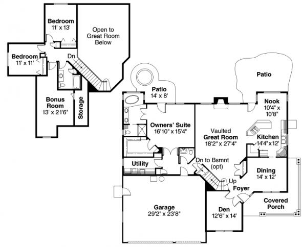 Brillion - 30-167 - Country Home Plan - Floor Plan