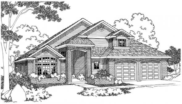 Gilcrest - 30-270 - Contemporary Home Plan - Front Elevation
