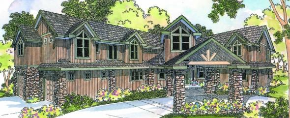 Bentonville - 30-275 - Estate Home Plan - Front Elevation
