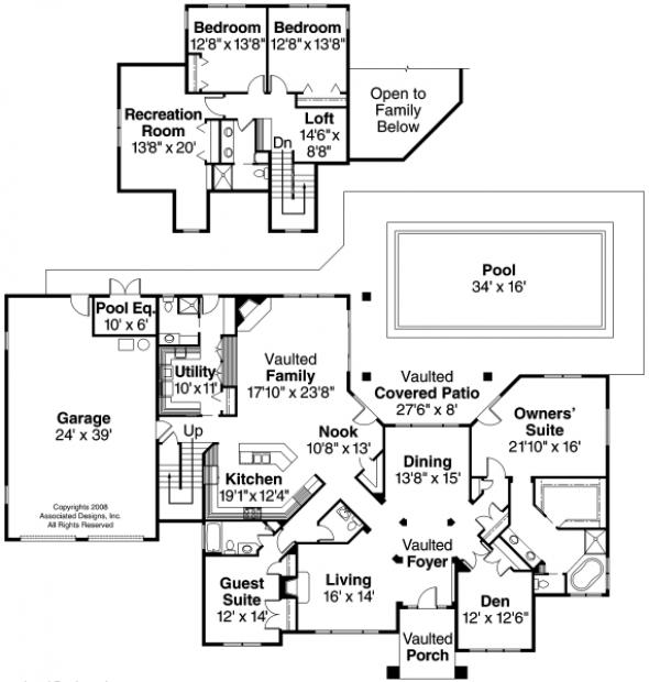 Meridian - 30-312 - Estate Home Plan - Floor Plan