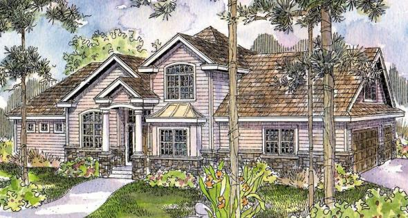 Crestwick - 30-425 - European Home Plan - Front Elevation
