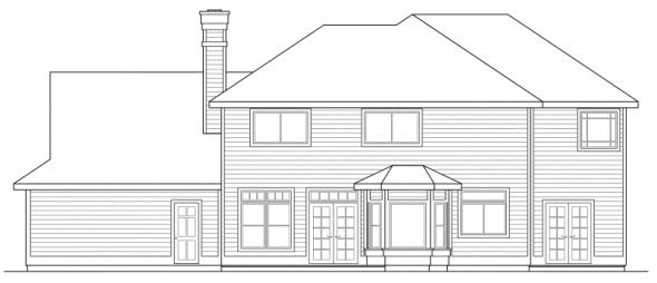 Willmar - 30-048 - Colonial Home Plans - Rear Elevation