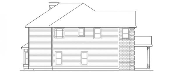 Willmar - 30-048 - Colonial Home Plans - Left Elevation