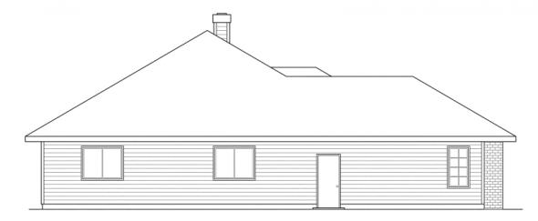 Syracuse - 30-063 - Traditional Home Plans - Left Elevation