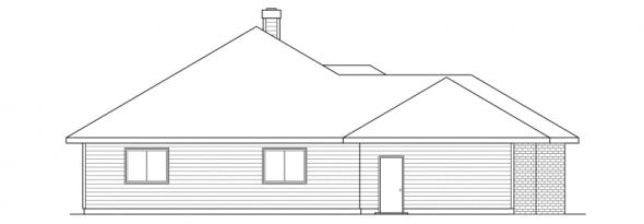 Clarkston - 30-080 - Traditional Home Plans - Left Elevation