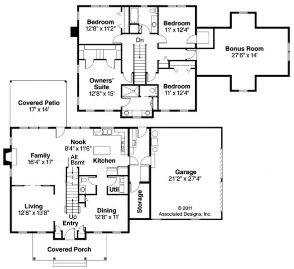 Lorane - 30-107 - Country Home Plan - Floor Plan