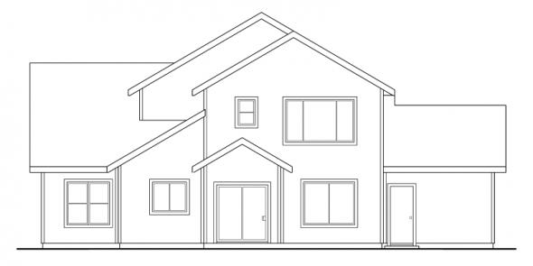 Valemont - 30-163 - Traditional Home Plan - Rear Elevation