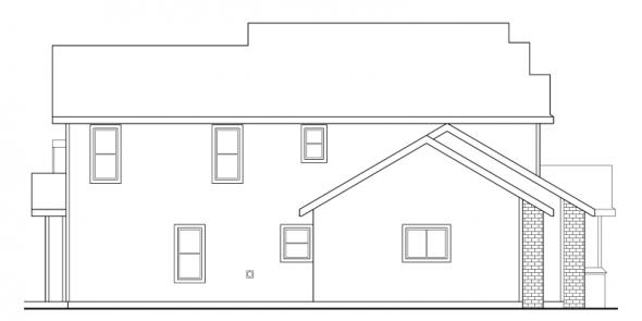 Valemont - 30-163 - Traditional Home Plan - Left Elevation