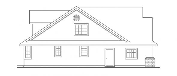 Brillion - 30-167 - Country Home Plan - Left Elevation
