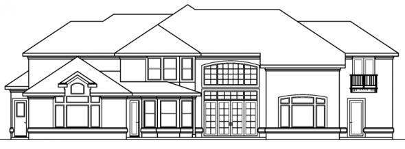 Lucardo - 30-181 - Estate Home Plan - Rear Elevation