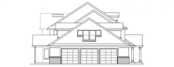 Roxbury - 30-187 - Estate Home Plan - Left Elevation