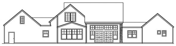 Brelsford - 30-202 - European Home Plan - Rear Elevation